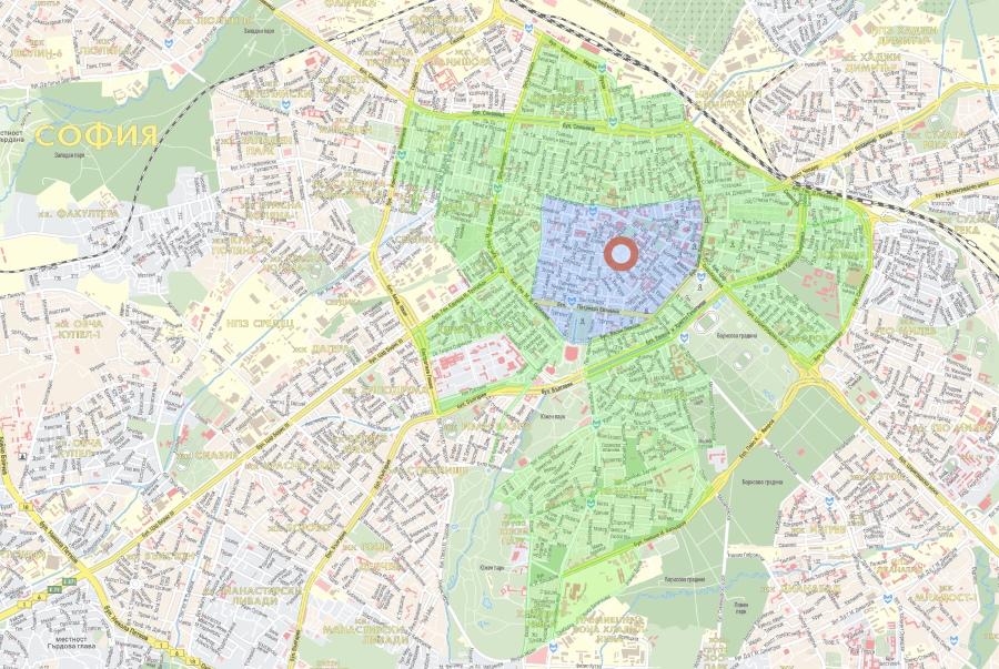 карта парковок софия